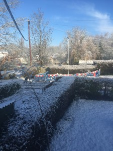Snow comes to Bletsoe