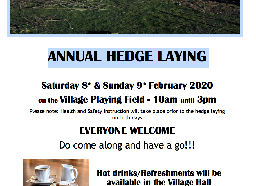 Smockers Hedge Laying Event